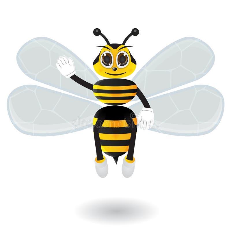 Honungbiet säger hallo royaltyfri illustrationer