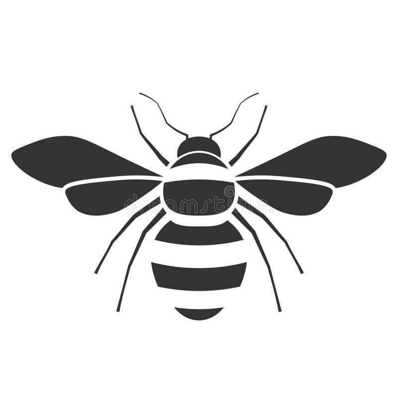 Honungbisymbol royaltyfri illustrationer