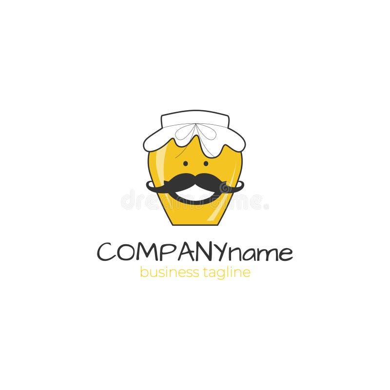 Honungföretagslogo - biföretag royaltyfri illustrationer