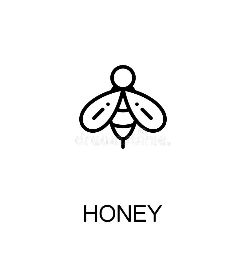 Honungsingelsymbol stock illustrationer