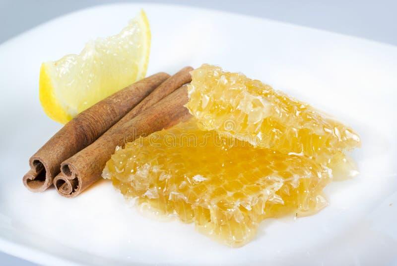 Honungskaka. royaltyfria bilder