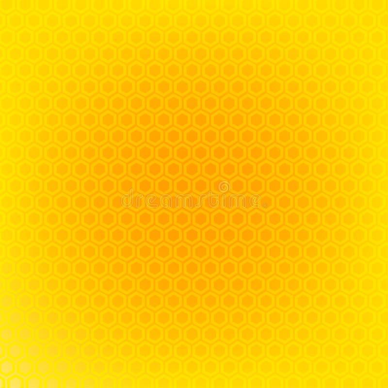 Honungskakabakgrundstextur vektor illustrationer