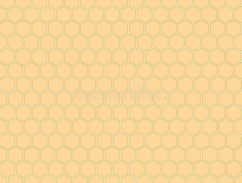 honungskakamodell royaltyfri illustrationer