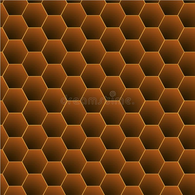 Honungskakamodellvektor stock illustrationer