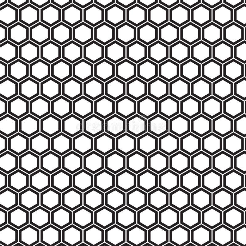 Honungskakan mönstrar stock illustrationer