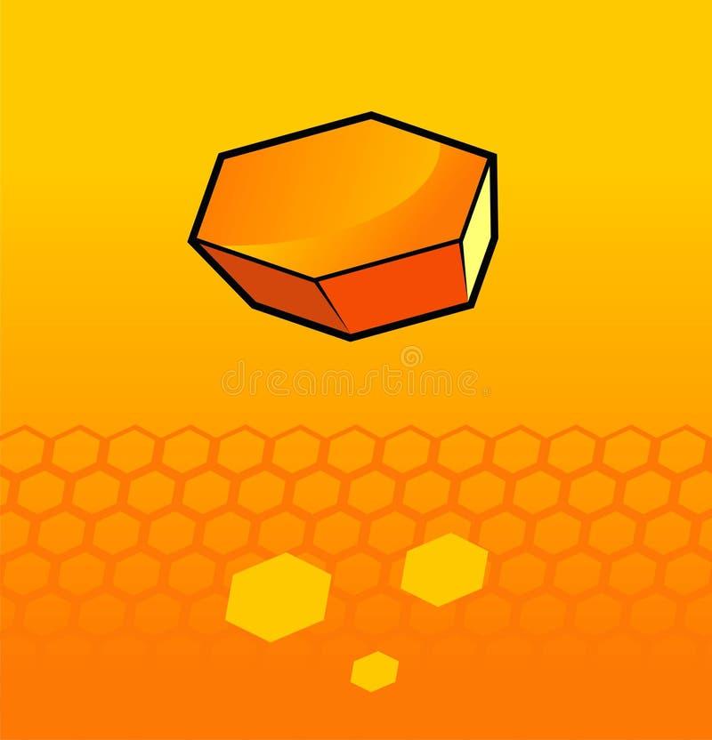 honungskakor royaltyfri illustrationer