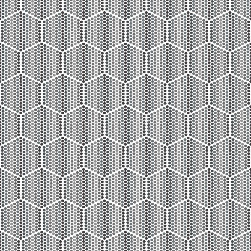 Honungskakor för geometrisk sömlös modell för honung vektor illustrationer
