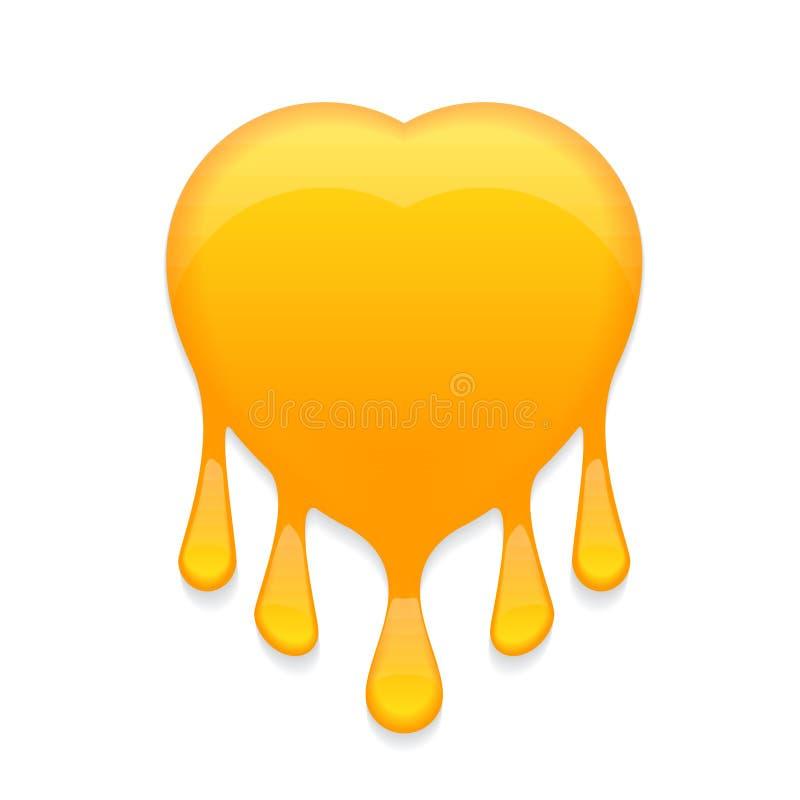 Honungstämpel med små droppar vektor illustrationer