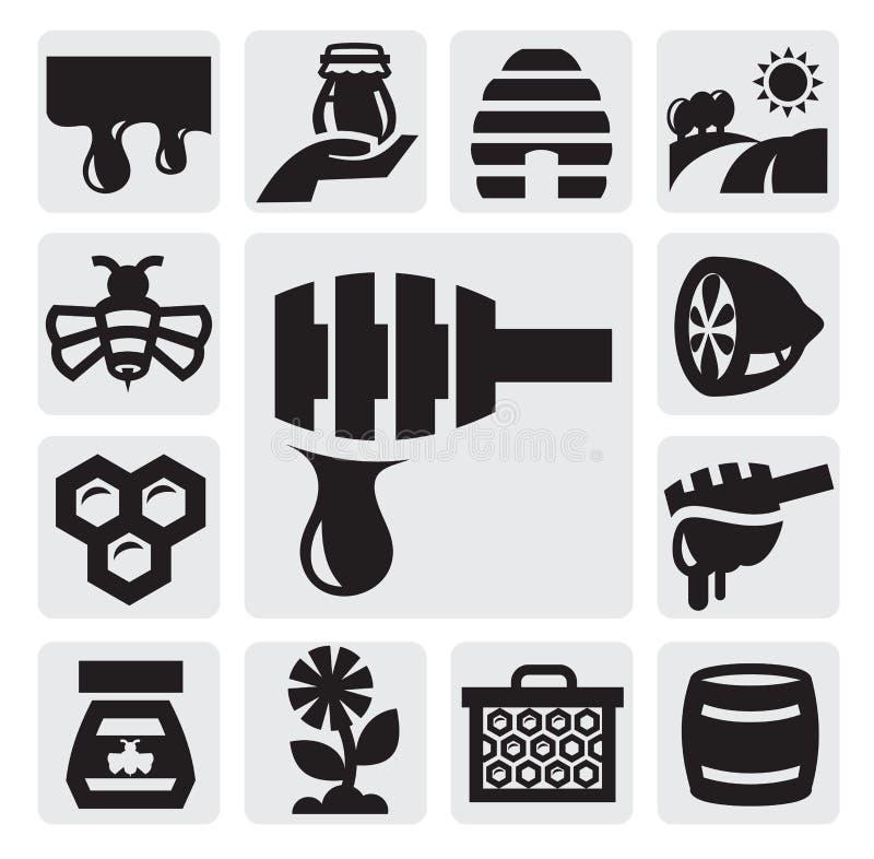 Honungsymbol vektor illustrationer