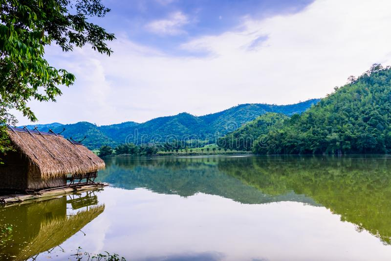 Hoob Khao Wong Reservoir, Danchang, Suphanburi, Tailândia, fotos de stock