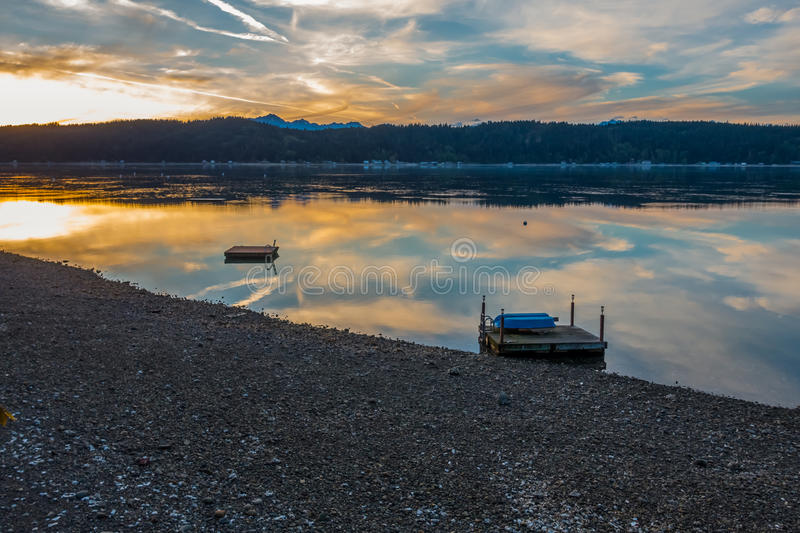 Hood Canal Sunset stock foto's