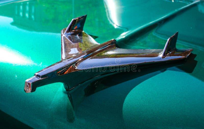 Hood Ornament, ornamento clásico del coche foto de archivo libre de regalías
