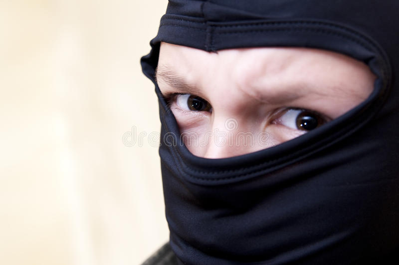 Hooded angry teenager stock images