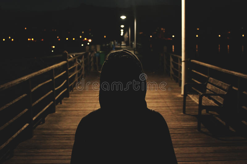 Hooded Figure At Night Free Public Domain Cc0 Image