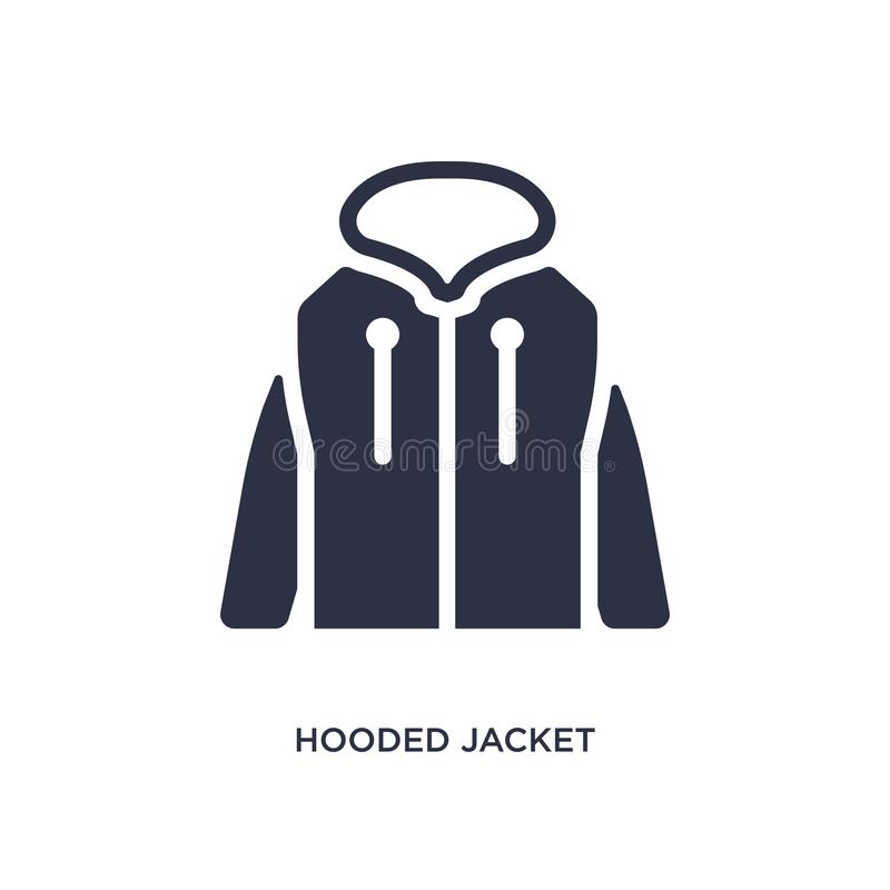 hooded jacket icon on white background. Simple element illustration from clothes concept stock illustration