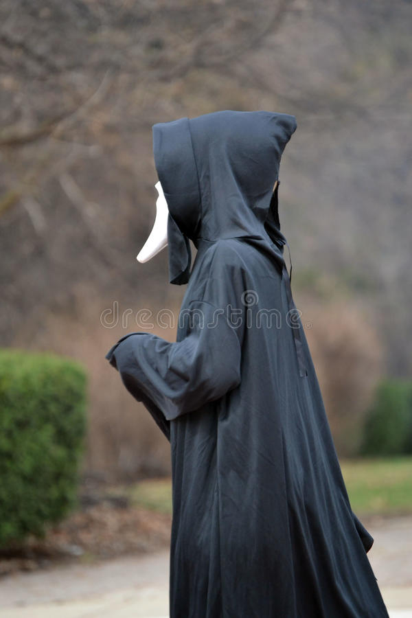 hooded man royaltyfri foto