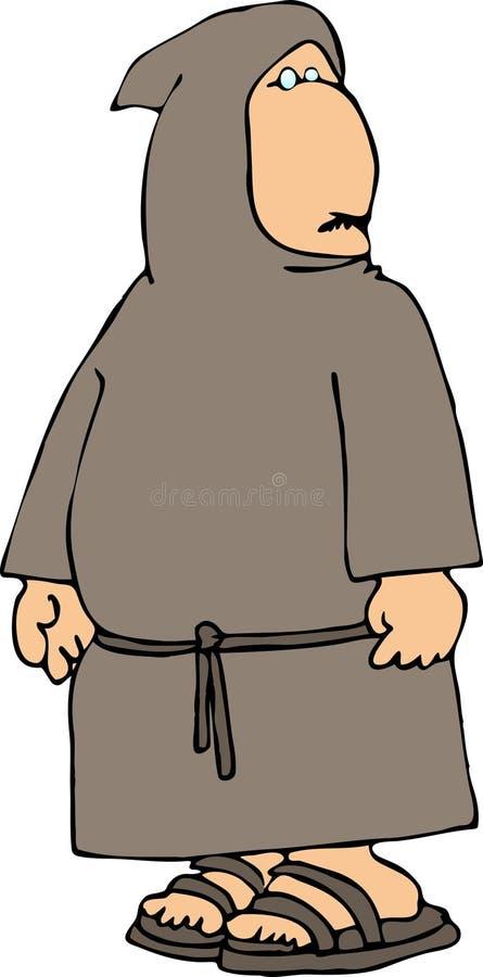 hooded monk royaltyfri illustrationer