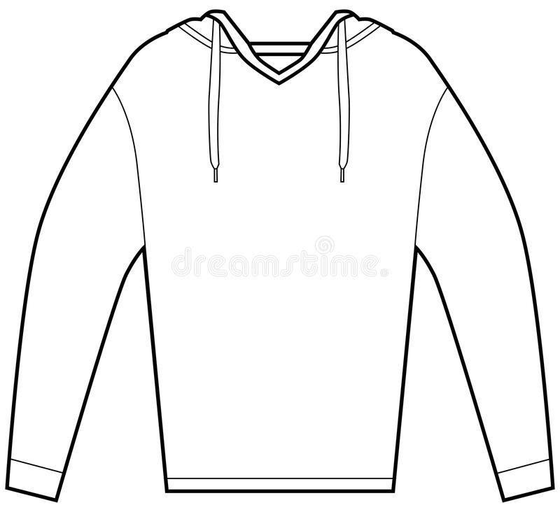 Download Hooded Pullover Shirt stock vector. Illustration of icon - 12624078
