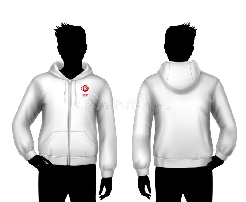 Hooded Sweatshirt Template vector illustration