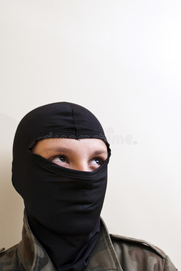 Download Hooded  teenager stock photo. Image of glaring, looking - 11998362