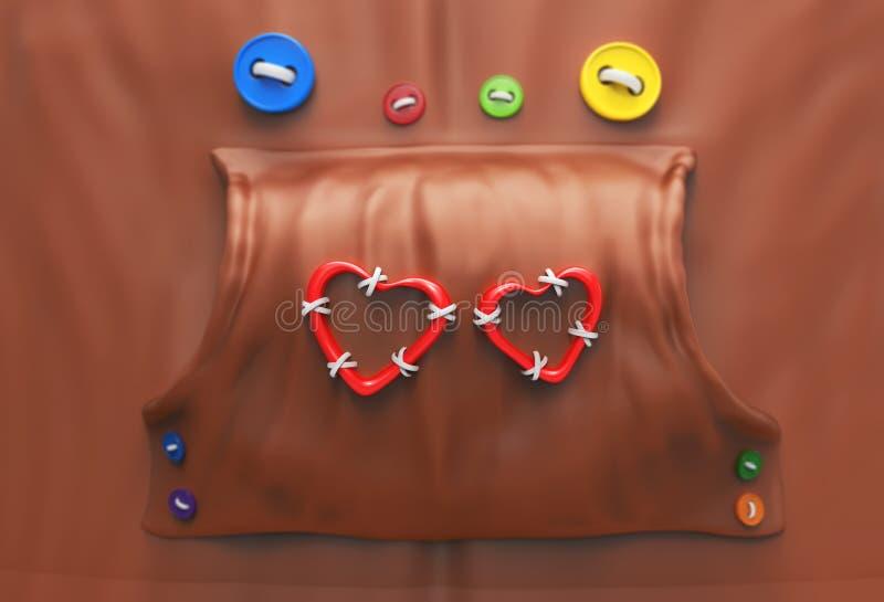 Hoodie με τα κουμπιά και τις καρδιές απεικόνιση αποθεμάτων