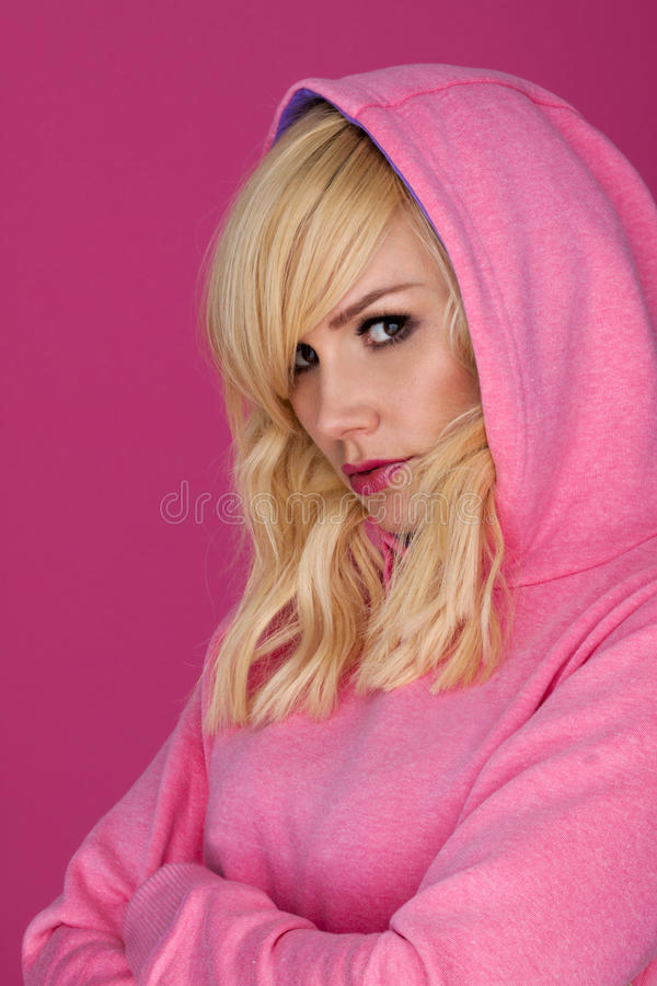 Hoodie With Attitude. Royalty Free Stock Images