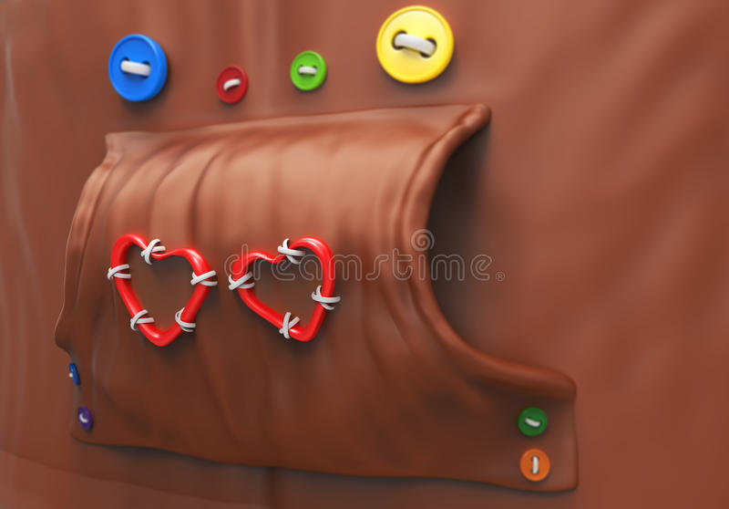 Hoodie com botões e corações fotografia de stock royalty free