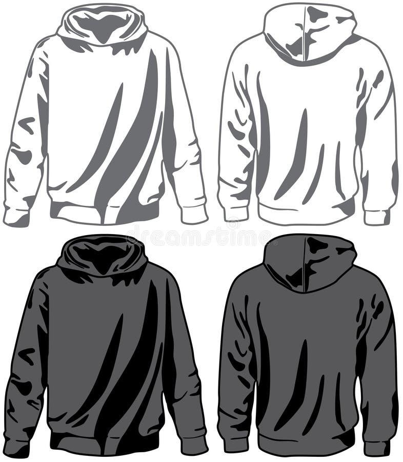 hoodies男女皆宜的向量 向量例证