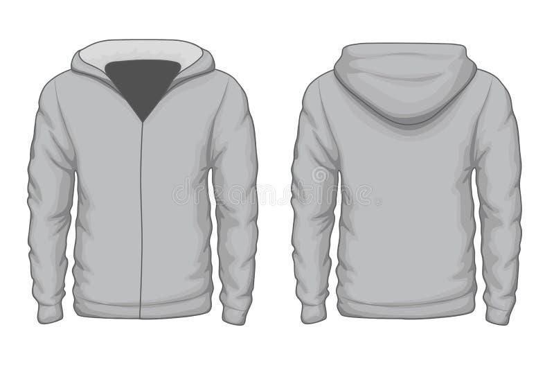 Hoodies koszulowy wektorowy szablon ilustracji