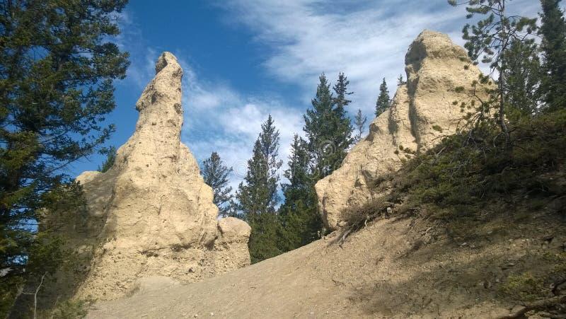 Hoodoo βουνών κοιλάδων τόξων banff στοκ φωτογραφία με δικαίωμα ελεύθερης χρήσης