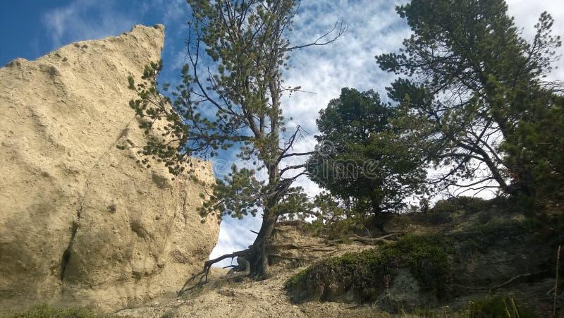 Hoodoo βουνών κοιλάδων τόξων banff στοκ εικόνα