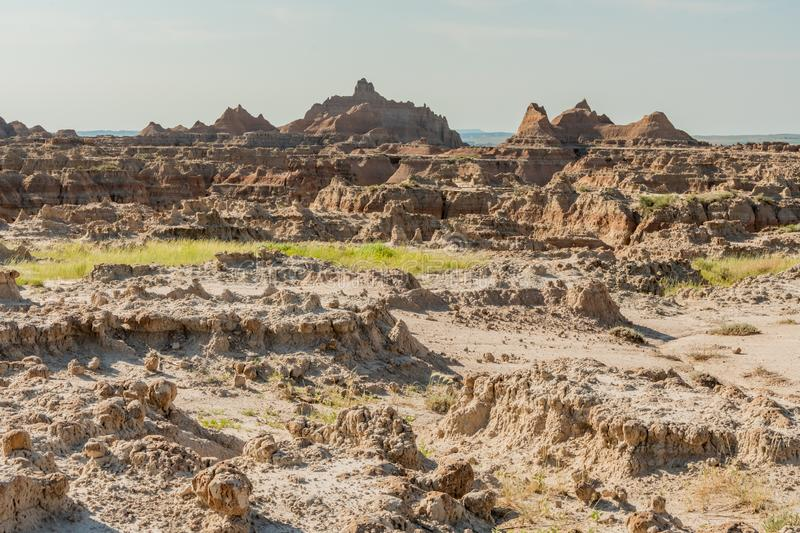 Hoodoo Landscape Streches Across Badlands royalty free stock photography
