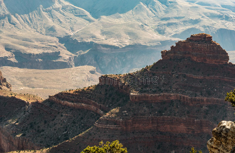 Hoodoo Layers in Grand Canyon stock images