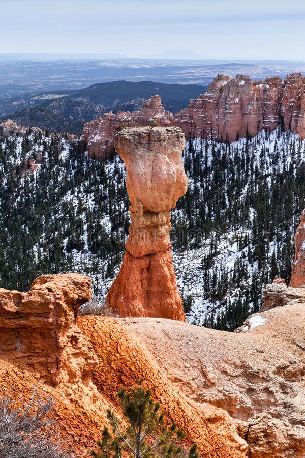Hoodoo Rock Called The Hunter In Bryce Canyon, USA stock photography