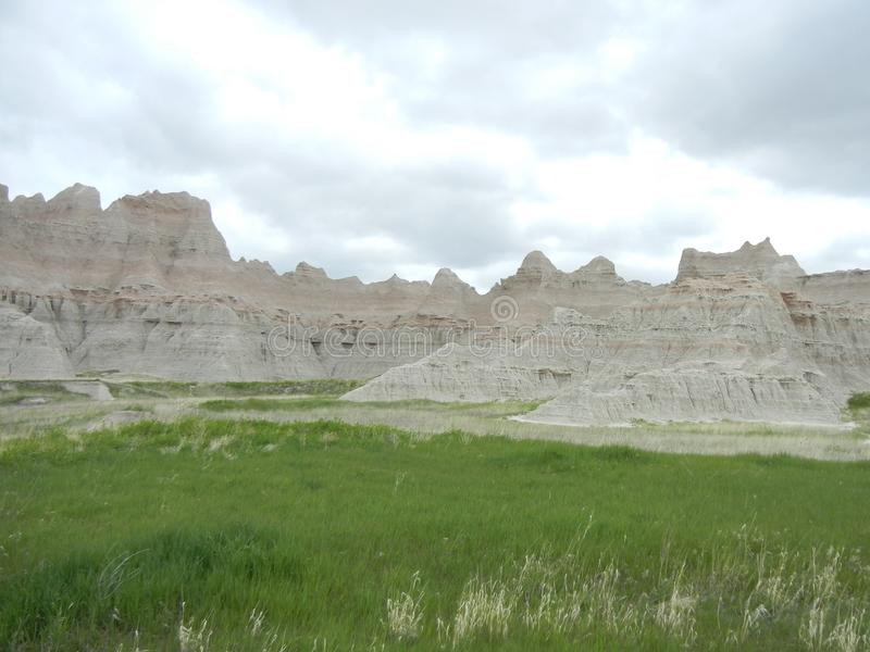 Hoodoos in the Badlands, South Dakota royalty free stock photo