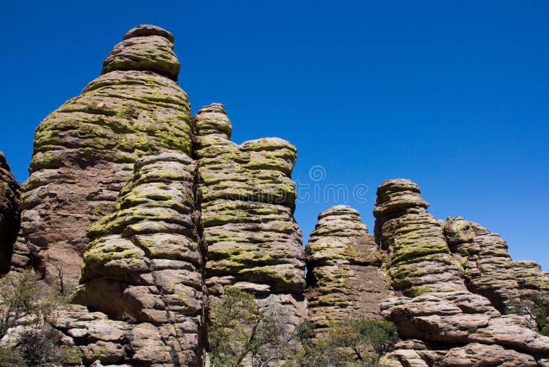 Hoodoos at Chiricahua stock images