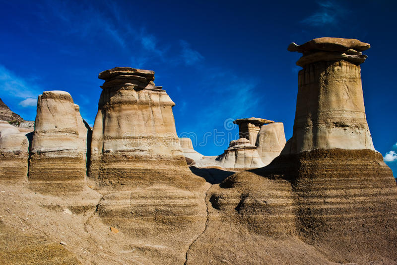 Hoodoos in drumheller stock images