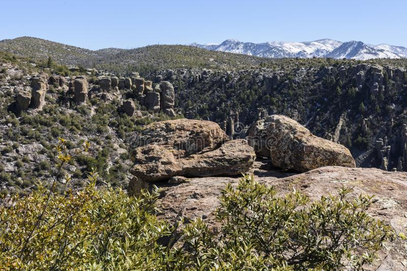 Hoodoos in the Chiricahua National Monument royalty free stock photos
