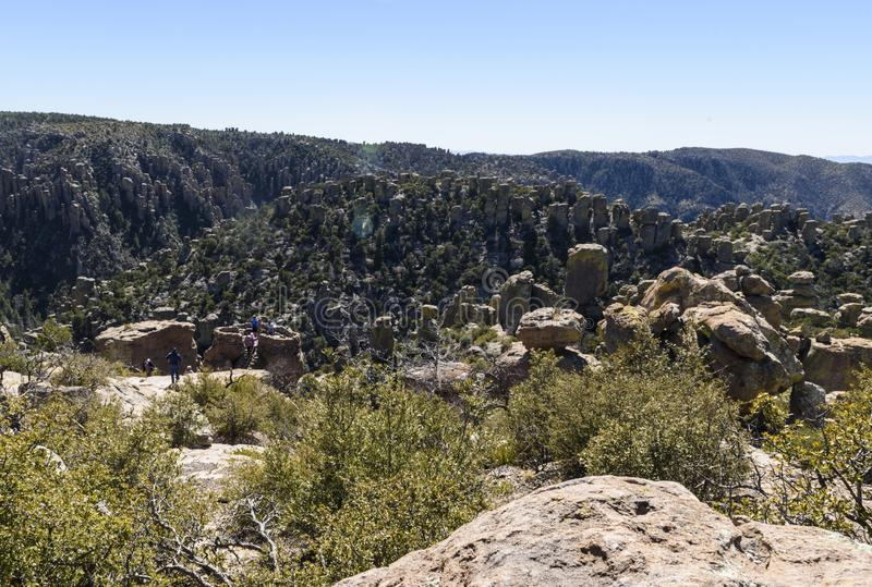 Rock Formations at Chiricahua National Monument. royalty free stock photography