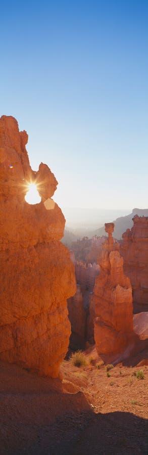 Hoodoos am Sonnenaufgang, stockfotos