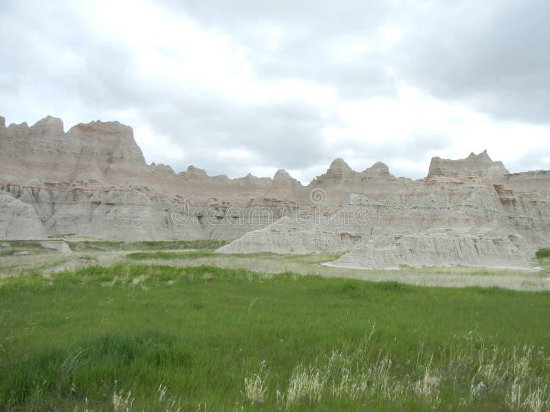 Hoodoos w badlands, Południowy Dakota zdjęcie royalty free