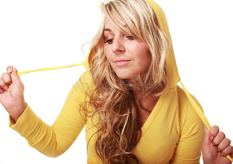 Hoody jaune images stock