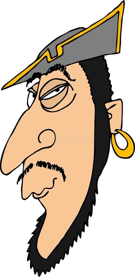 Hoofd 2 van de piraat stock illustratie