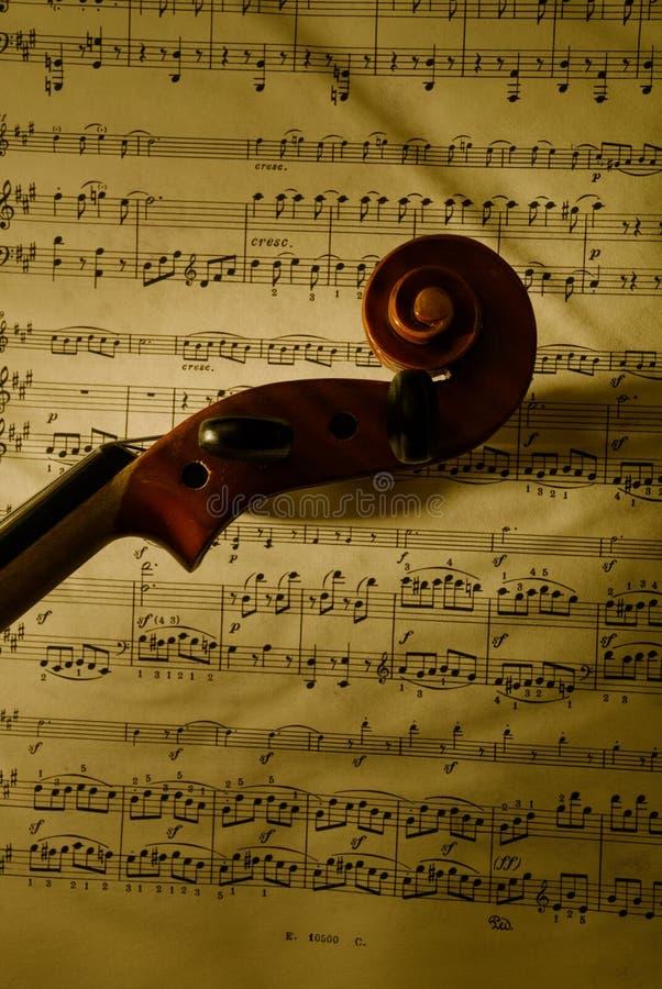 Hoofd 2 van de viool stock afbeelding