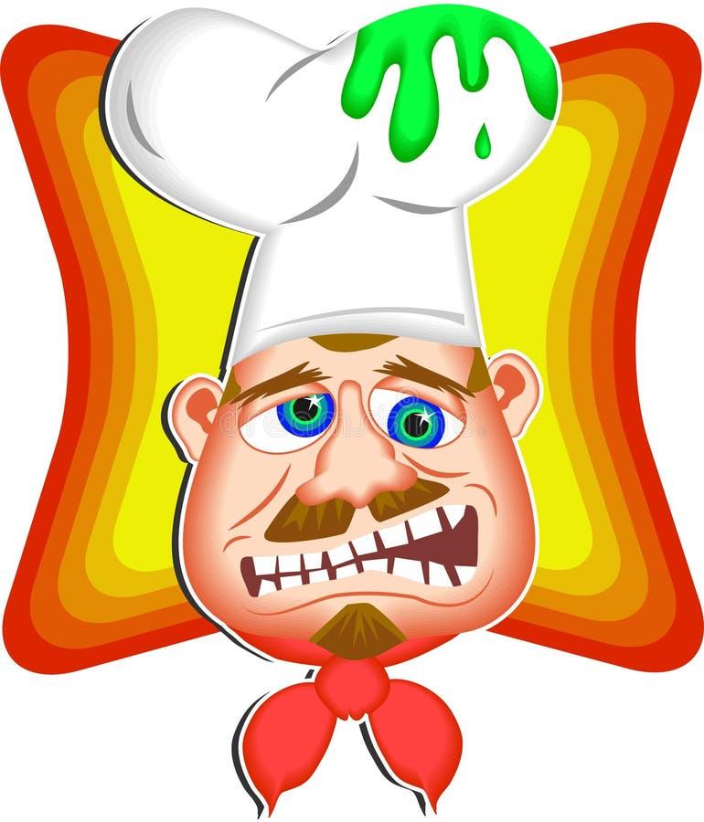 Hoofd Chef-kok vector illustratie