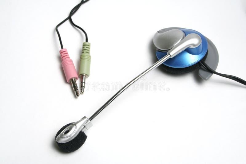 Hoofd hoofdtelefoons met een microfoon royalty-vrije stock afbeelding