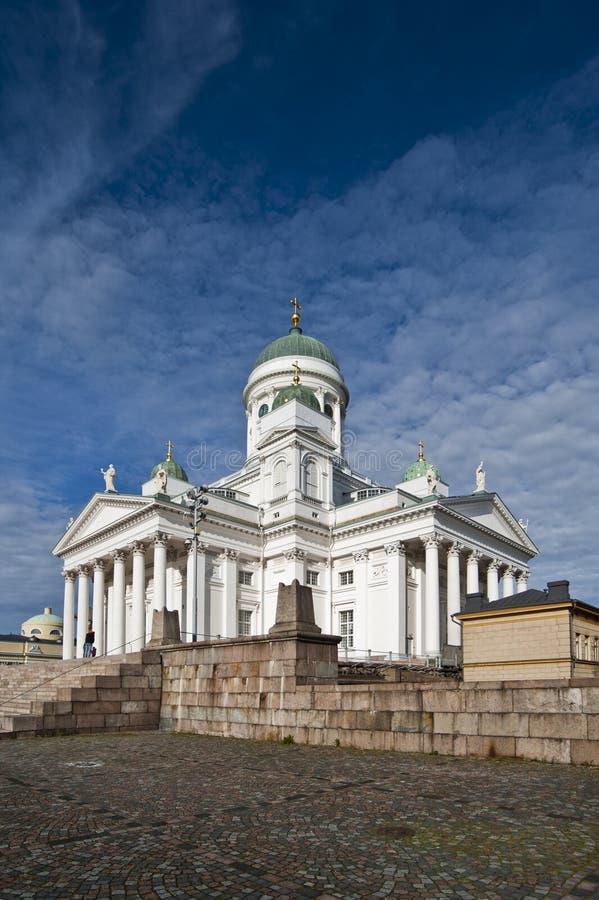 Hoofd kathedraal van Helsinki, Finland. royalty-vrije stock afbeeldingen
