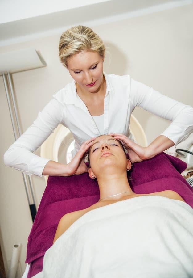 Hoofd Massage royalty-vrije stock foto's