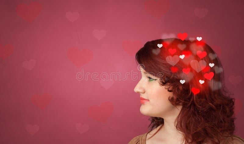 Hoofd met hoogtepunt van liefde royalty-vrije stock foto's