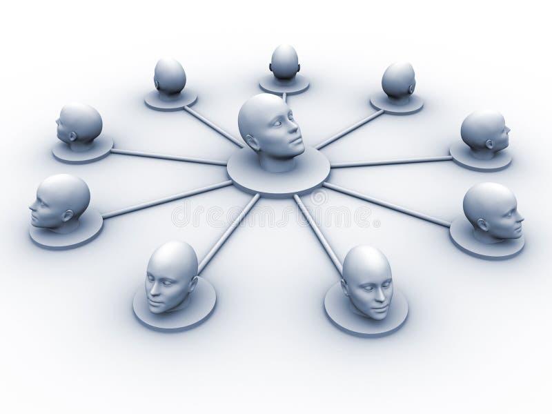 Hoofd netwerk stock illustratie